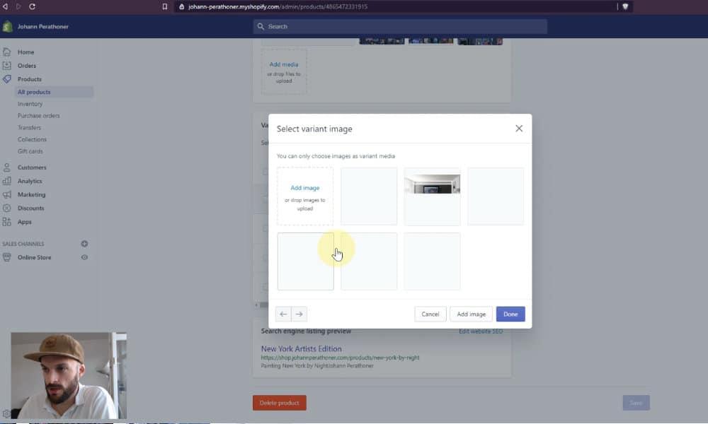 Taux de conversion Shopify