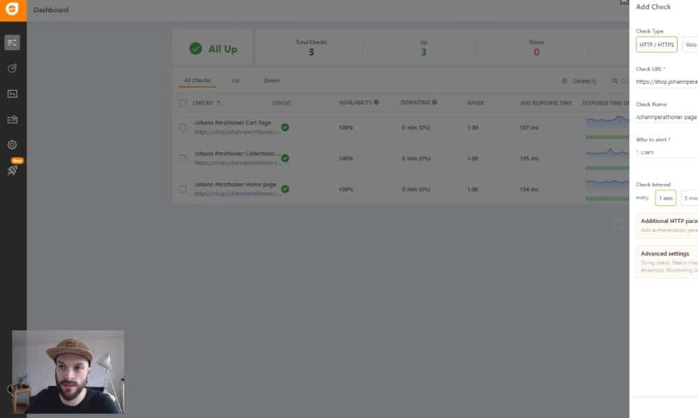 Monitoring de boutique en ligne gratuit