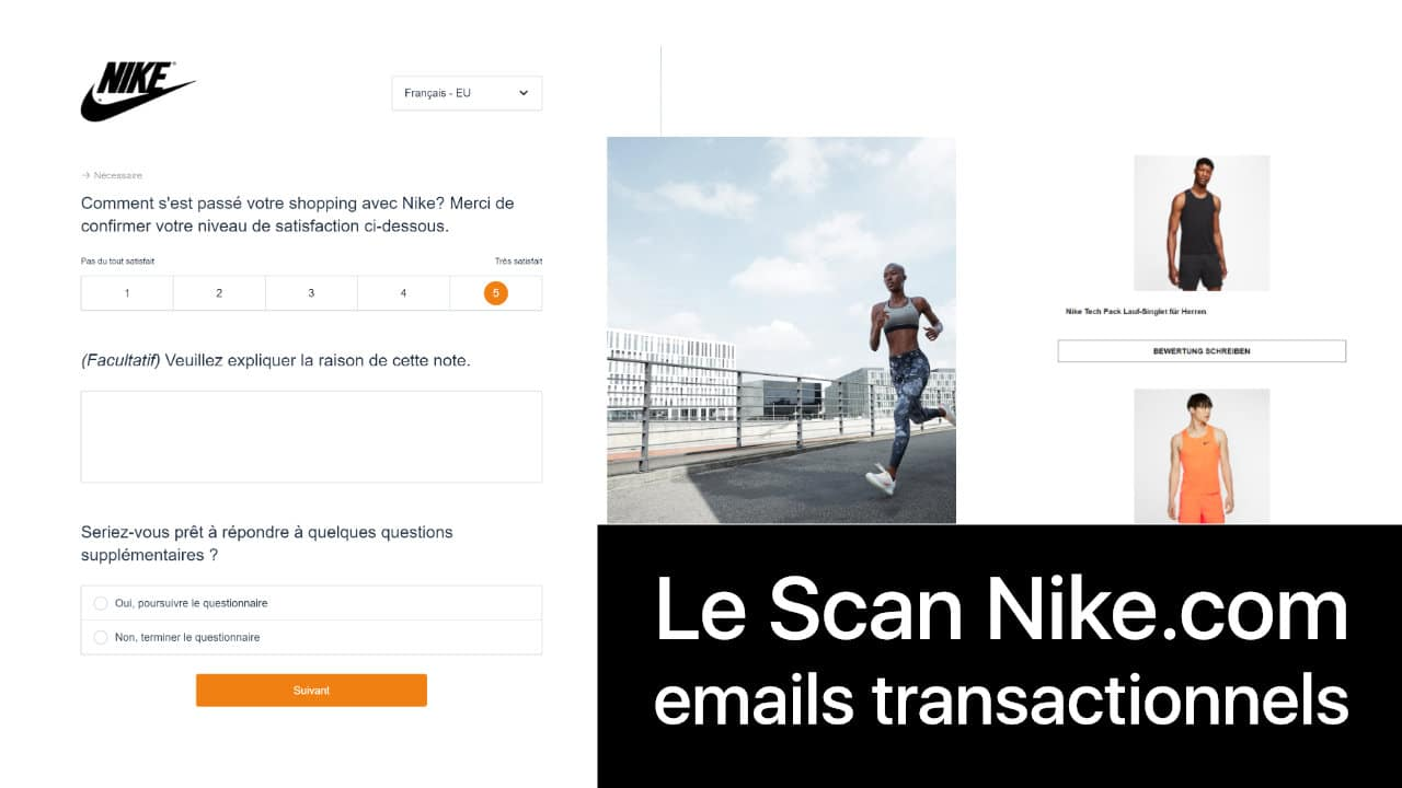 Analyse emails transactionnels Nike.com